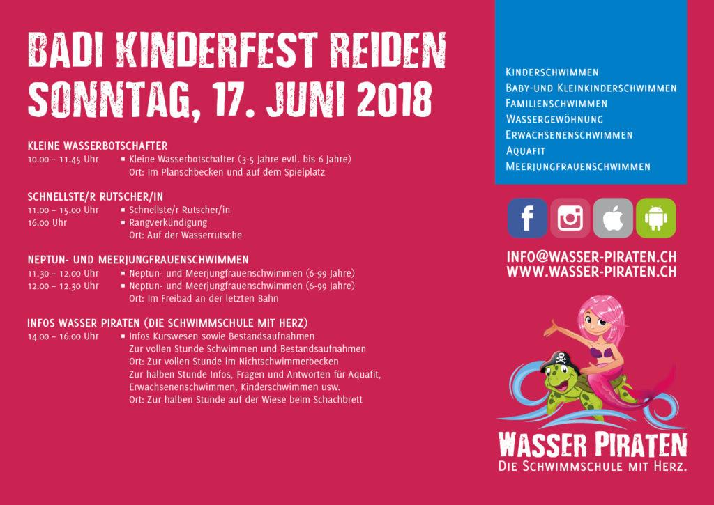 Badi Kinderfest Reiden 2018 Sonntag
